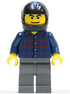 LEGO Minifigure-Hot Rod Driver Plaid (10200)-Racers / Factory-RAC041-Creative Brick Builders
