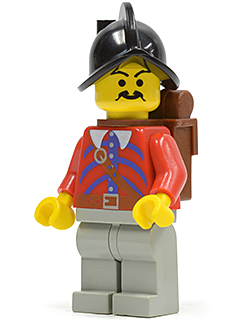 LEGO Minifigure-Imperial Armada - Red - Backpack-Pirates / Pirates I / Imperial Armada-PI077-Creative Brick Builders