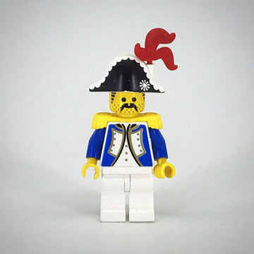 LEGO Minifigure-Imperial Soldier - Governor with Red Feather-Pirates / Pirates I / Imperial Soldiers-PI004b-Creative Brick Builders