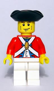 LEGO Minifigure-Imperial Soldier II - Officer, Cheek Lines-Pirates / Pirates II-PI124-Creative Brick Builders