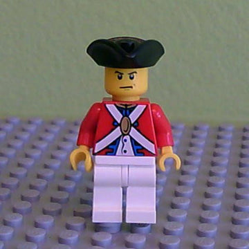 LEGO Minifigure-Imperial Soldier II - Officer, Scowl-Pirates / Pirates II-PI125-Creative Brick Builders