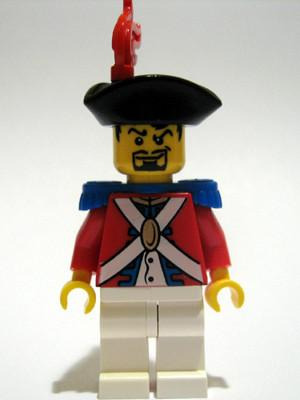 LEGO Minifigure-Imperial Soldier II - Officer with Red Plume-Pirates / Pirates II-PI085-Creative Brick Builders