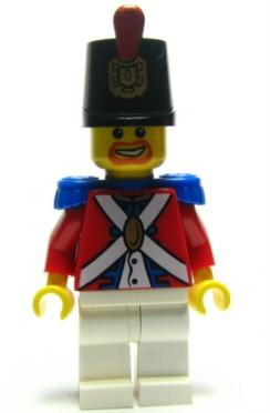 LEGO Minifigure-Imperial Soldier II - Shako Hat Decorated, Brown Beard-Pirates / Pirates II-PI098-Creative Brick Builders