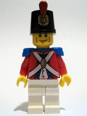 LEGO Minifigure-Imperial Soldier II - Shako Hat Decorated, Cheek Lines-Pirates / Pirates II-PI087-Creative Brick Builders