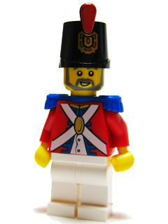 LEGO Minifigure-Imperial Soldier II - Shako Hat Decorated, Gray Beard-Pirates / Pirates II-PI118-Creative Brick Builders