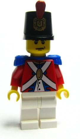 LEGO Minifigure-Imperial Soldier II - Shako Hat Decorated, Scowl-Pirates / Pirates II-PI090-Creative Brick Builders