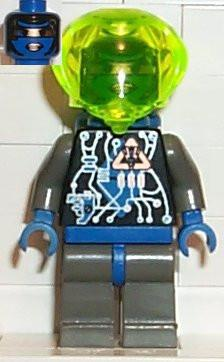 LEGO Minifigure-Insectoids - Female, blue diamond under circuits-Space / Insectoids-SP022-Creative Brick Builders