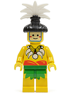 LEGO Minifigure-Islander, King, with Black Hair-Piece-Pirates / Pirates I / Islanders-PI069-Creative Brick Builders