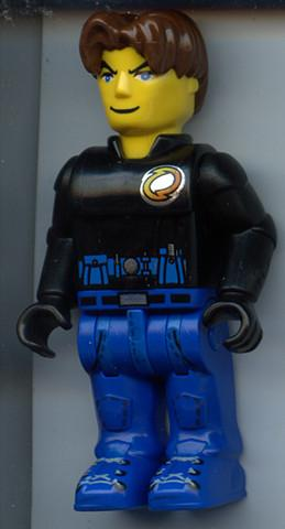 LEGO Minifigure-Jack Stone - Black Jacket, Blue Legs-4 Juniors / Jack Stone-JS028-Creative Brick Builders