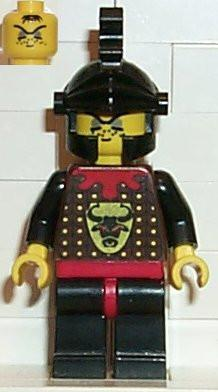 LEGO Minifigure-Knights' Kingdom I - Robber 2, Black Dragon Helmet-Castle / Knights Kingdom I-CAS045-Creative Brick Builders