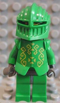 LEGO Minifigure-Knights Kingdom II - Rascus with Armor, Plain Torso-Castle / Knights Kingdom II-CAS261-Creative Brick Builders