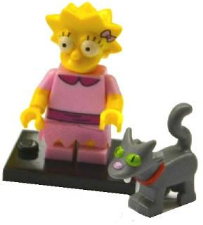 LEGO Minifigure-Lisa Simpson with Bright Pink Dress-Collectible Minifigures / The Simpsons Series 2-COLSIM2-3ACC-Creative Brick Builders
