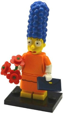 LEGO Minifigure-Marge Simpson with Orange Dress-Collectible Minifigures / The Simpsons Series 2-COLSIM2-2-Creative Brick Builders