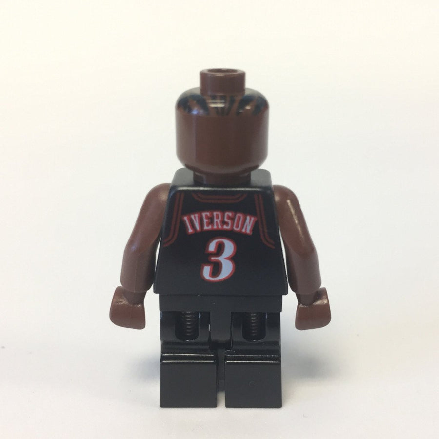 LEGO Minifigure-NBA Allen Iverson, Philadelphia 76ers #3 (Black Uniform)-Sports / Basketball-NBA010-Creative Brick Builders