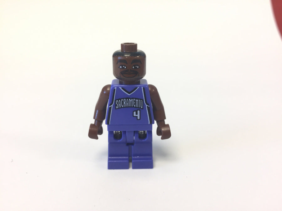 LEGO Minifigure-NBA Chris Webber, Sacramento Kings #4-Sports / Basketball-NBA013-Creative Brick Builders