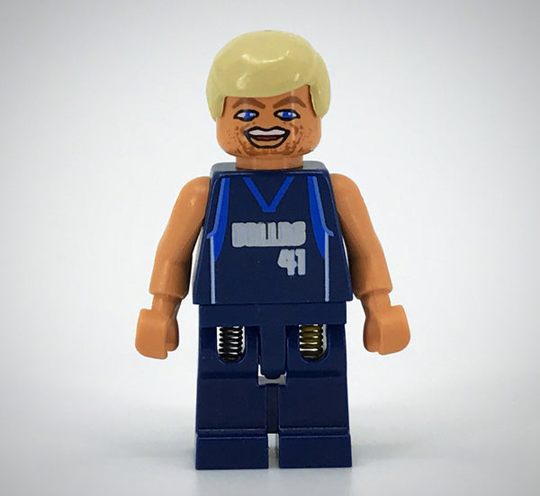 LEGO Minifigure-NBA Dirk Nowitzki, Dallas Mavericks #41-Sports / Basketball-NBA008-Creative Brick Builders