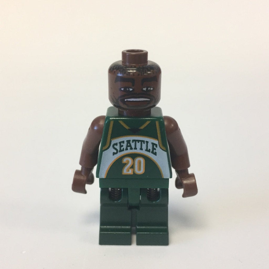 LEGO Minifigure-NBA Gary Payton, Seattle SuperSonics #20-Sports / Basketball-NBA009-Creative Brick Builders