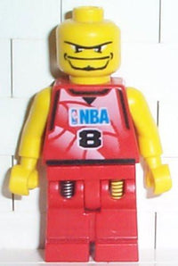 LEGO Minifigure-NBA Player, Number 8 without Hair-Sports / Basketball-NBA046-Creative Brick Builders