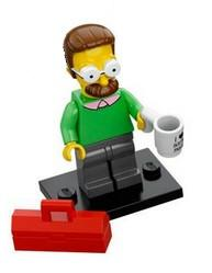 LEGO Minifigure-Ned Flanders-Collectible Minifigures / The Simpsons-COLSIM-7-Creative Brick Builders