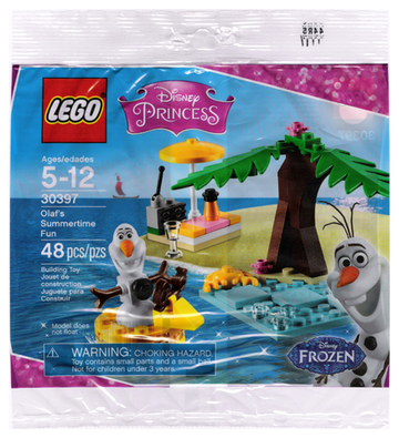 LEGO Set-Olaf's Summertime Fun (Polybag)-Disney Princess / Frozen-30397-1-Creative Brick Builders