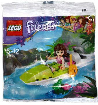LEGO Set-Olivia's Jungle Boat (Polybag)-Friends-30115-1-Creative Brick Builders