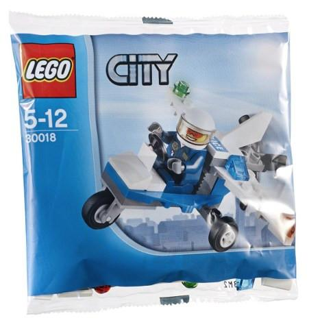 LEGO Set-Police Plane (Polybag)-Town / City / Police-30018-1-Creative Brick Builders