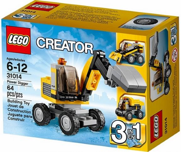 LEGO Set-Power Digger-Creator / Basic Model / Construction-31014-1-Creative Brick Builders