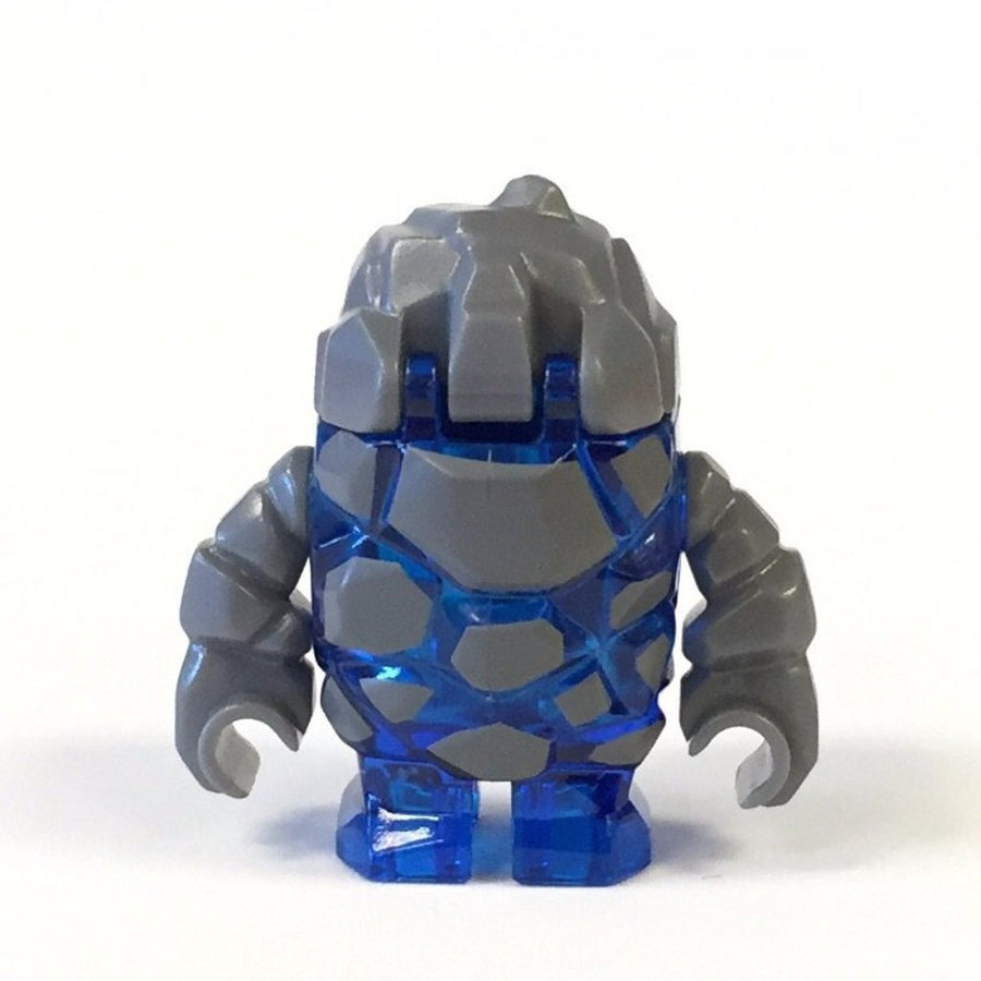 LEGO Minifigure-Rock Monster : Glaciator (Trans-Dark Blue)-Power Miners-Creative Brick Builders