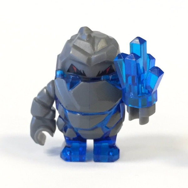 LEGO Minifigure-Rock Monster : Glaciator (Trans-Dark Blue)-Power Miners-PM004-ACC-Creative Brick Builders