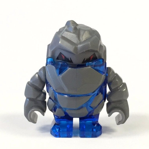 LEGO Minifigure-Rock Monster : Glaciator (Trans-Dark Blue)-Power Miners-PM004-Creative Brick Builders