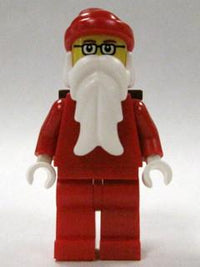 LEGO Minifigure-Santa, Glasses, D-Basket-Holiday / Christmas-HOL004-Creative Brick Builders