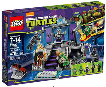 LEGO Set-Shredder's Lair Rescue-Teenage Mutant Ninja Turtles-79122-1-Creative Brick Builders
