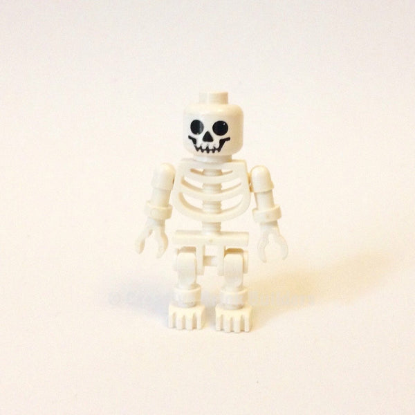 LEGO Minifigure-Skeleton with Standard Skull-(Minifigure: Other)-GEN001-Creative Brick Builders