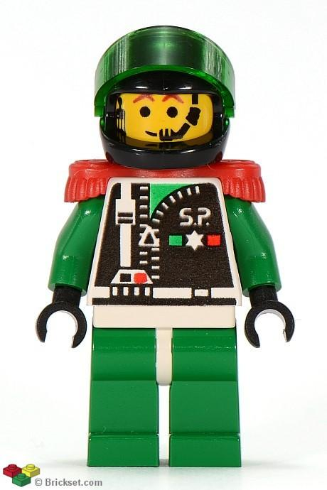 LEGO Minifigure-Space Police 2 Chief-Space / Space Police II-SP038-Creative Brick Builders