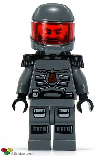 LEGO Minifigure-Space Police 3 Officer 12 - Airtanks, Epaulettes (5985)-Space / Space Police III-sp116-Creative Brick Builders