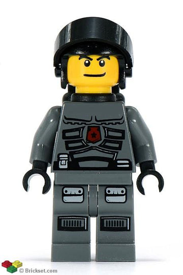 LEGO Minifigure-Space Police 3 Officer 4 - Airtanks (5972, 5973)-Space / Space Police III-sp096-Creative Brick Builders
