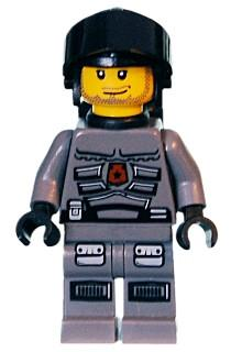 LEGO Minifigure-Space Police 3 Officer 5 - Airtanks-Space / Space Police III-SP099-Creative Brick Builders