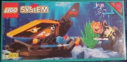 LEGO Set-Spy Shark-Aquazone / Aquasharks-6135-4-Creative Brick Builders
