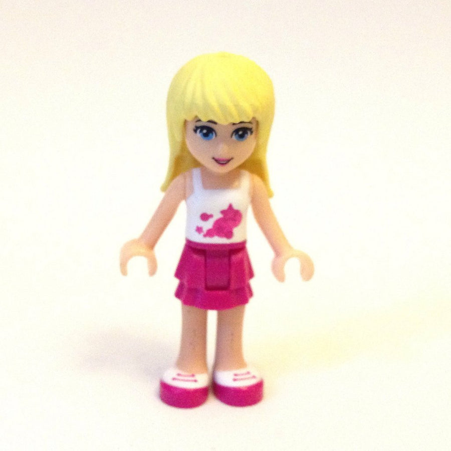 LEGO Minifigure-Stephanie, Magenta Layered Skirt, White Top-Friends-FRND008-Creative Brick Builders