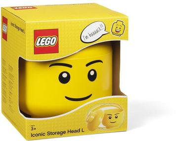 LEGO Storage Head (Boy) - Large