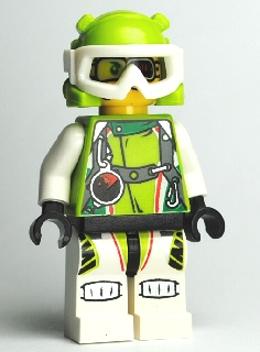 LEGO Minifigure-Team X-treme Daredevil 2 (DEX-treme) - Wrap Helmet-World Racers-WR019-Creative Brick Builders
