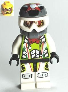 LEGO Minifigure-Team X-treme Daredevil 3 (MAX-treme) - Dirtbike Helmet-World Racers-WR011-Creative Brick Builders