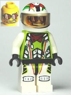 LEGO Minifigure-Team X-treme Daredevil 3 (MAX-treme) - Standard Helmet-World Racers-WR021-Creative Brick Builders