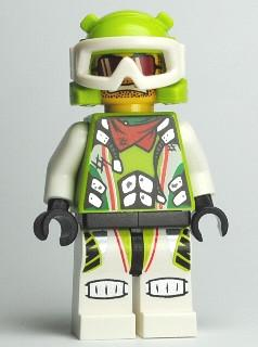 LEGO Minifigure-Team X-treme Daredevil 3 (MAX-treme) - Wrap Helmet-World Racers-WR020-Creative Brick Builders