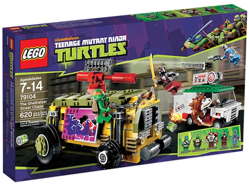 LEGO Set-The Shellraiser Street Chase (Train Base Version)-Teenage Mutant Ninja Turtles-79104-A-1-Creative Brick Builders
