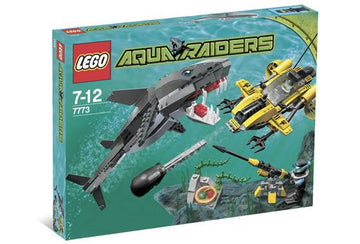 LEGO Set-Tiger Shark Attack-Aquazone / Aquaraiders II-7773-1-Creative Brick Builders