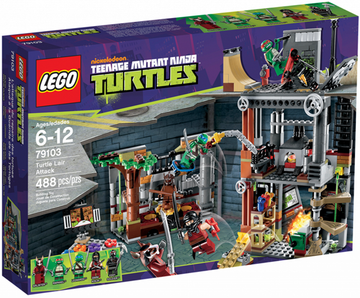 LEGO Set-Turtle Lair Attack-Teenage Mutant Ninja Turtles-79103-1-Creative Brick Builders
