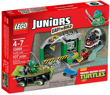 LEGO Set-Turtle Lair-Juniors / Teenage Mutant Ninja Turtles-10669-1-Creative Brick Builders