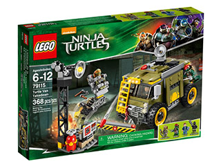 LEGO Set-Turtle Van Takedown-Teenage Mutant Ninja Turtles-79115-1-Creative Brick Builders