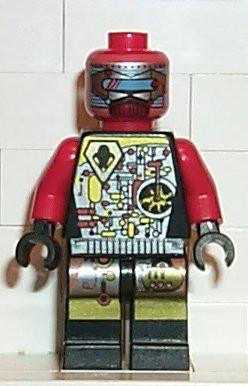 LEGO Minifigure-UFO Droid Red-Space / UFO-SP044-Creative Brick Builders